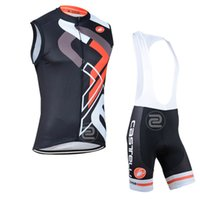 Wholesale Best selling new summer mens Ropa cycling clothing Sleeveless Jersey Bib Short Tights ciclismo maillot Cycling vest sportswear D pads