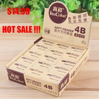 art supplies drawing sale - HOT SALE children students B art stationery pencil eraser exam rubber correction supply box professional drawing