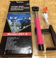 Wholesale Z07 bluetooth wireless monopod selfie sticks lovely monopod selfie stick With Line for iphone for samsung new arrival with package