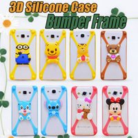 Cheap 3D Silicone Case Best Cartoon Character Bumper Frame
