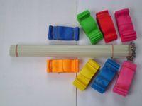 al por mayor palo de gimnasia-Correa giratoria Twirling del palillo de Rod de la flámula del arte rítmico de la cinta de la danza de la gimnasia 10pcs / lot 4M 12 colores
