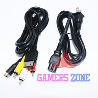 Others av power cord - DC AC Power Cord amp AV Audio Video Cable For SEGA DREAMCAST