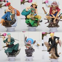 Wholesale New Japanese Anime One Piece CHESS PIECE COLLECTION PVC Figure Set Icludes For Christmas Gifts