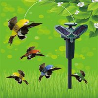 Wholesale Solar Power Childrens Toys Shake Flying Hummingbird small order no tracking