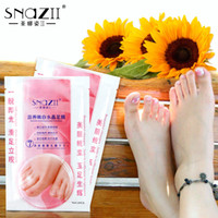 baby foot - 100 Original SnazII Baby Bamboo Vinegar Remove Dead Skin Foot Mask Peeling Cuticles Heel Feet Care exfoliating sticker