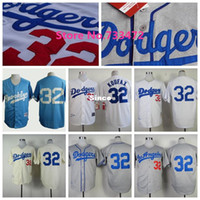 baby baseball shirts - 30 Teams Newest Los Angeles Dodgers Sandy Koufax Baseball Jersey White Gray Embroidery Stitched Shirt Brooklyn Dodgers Baby Blue
