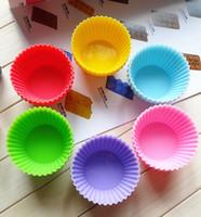 cupcake liners - 7cm Silica gel Liners baking mold silicone muffin cup baking cups cake cups cupcake