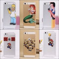 ariel purple - FAIRY TALE HOMER SNOW WHITE ARIEL CASE FOR APPLE IPHONE S C S