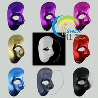 Wholesale 10pcs feather masquerade masks Venetian Shi cloth color theme Phantom of the Opera mask side half face mask dance mask mask whol