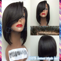 ombre lace front wig - Cheap Brazilian Lace Front Wig Human Hair Short Bob Front Lace Straight Wig Glueless Front Lace Short Human Hair Bob Wigs
