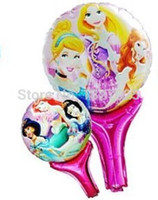 air free helium - air balloons childrens party decor Princess foil balloon helium balloon cartoon Balloons