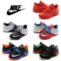 Cheap Nike KD VII Basketball Shoes Men KD 7 Retro Sneakers Discount 100% Original New Arrival Kevin Durant KD7 Original Sport Shoes Size 7-12
