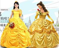 beauty and the beast - New Custom Cartoon Cosplay Costume beauty and the beast Belle cosplay costume Dress gift gloves