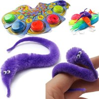 trick worms - New Stylish Hot Sale Magic Twisty Fuzzy Worm Wiggle Moving Sea Horse Kids Trick Toy Animals Street For kids gift