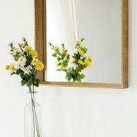 bedroom floor mirror - Yidai home floor full length mirror dressing mirror bedroom wall mirror square wood vanity mirror IKEA
