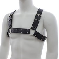 sex game - Male Adult Sex Restraints Fetish Toy PVC Leather Body Harness Body Adult Sex Game product