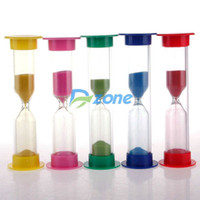 Wholesale Mini Sandglass Minutes Hourglass Sand Clock Timer Home Decor Nice Games Gift