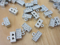 Wholesale rhinestone alphabet jewelry mobile phone chain MM full drill Jewelry fittings