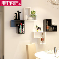 Wholesale Creative home wood storage rack racks the living room wall equilateral L shaped shelves CG2046