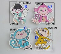 Wholesale WBNKVN mixed Baby buttons MM MM Monkey shape sewing fitting flatback wood painting