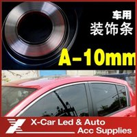 Wholesale 10mmX15m Car Chrome Styling Moulding Trim Strip Auto Body Window Exterior Decoration Car Accessories Tool Freeshipping