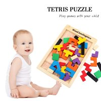 Wholesale Wooden Russian Tetris Puzzle Jigsaw Intellectual Building Block and Training Toy for Early Education Kids and Children