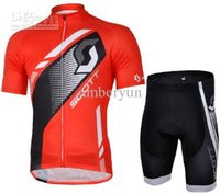 bicycle scott - Bicycle Clothes New SCOTT team cycling jersey short sleeved and shorts sets High quality cycling clothing outdoor men bike clothing