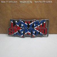 Wholesale D LYNYRD SKYNYRD Belt Buckle Pride Rebel Flag confederate flag USA southern battle flag belt buckle