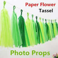 artificial flowers discount - 2015 new Color Paper Tassels Wedding Decoration Artificial Flower DIY Hanging Tassels Accessories Birthday Party Supplies Discount