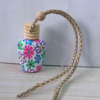beautiful lanyards - Lanyard clay oil bottles perfume bottle car perfume pendant car ornaments trinkets beautiful perfume box
