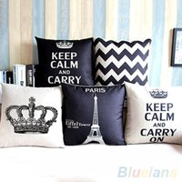 Wholesale New Arrival Home Decorative Cotton Linen Blended Crown Throw Pillow Case