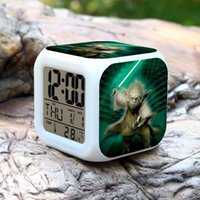 Wholesale LED Alarm Clock Despertador Digital Star War Vader Figures infantile Stromtrooper Reloj Reveil Character Boy Girl Children Gift