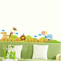 baseboard paint - bedroom decoration Animal cartoon giraffe nursery wall stickers children s room baseboard stickers backdrop painting DLX6014B