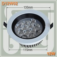 Wholesale 12w led downlight Epistar package lamp beads W led recessed spot light W led spotlight ceiling down light