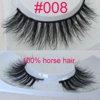 Wholesale 3D Horse Hair Eyelashes natural style horse fur lashes makeup soft band Handmade Real Luxurious Natural Horse Hair Soft Eye Lashe