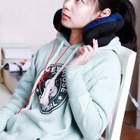 Wholesale Dark Blue Portable Travel Pillow Neck Massage Plum Flower Pillow Versatile Comfort Cushion Bolster W1310