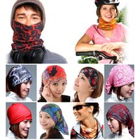 sunscreen - Free DHL Fashion Multifunctional scarf Headband Outdoor Sports Turban Sunscreen Magic Veil Cycling Seamless bandana