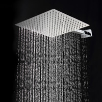 Wholesale cm cm square stainless steel ultra thin showerheads inch rainfall shower head Rain shower