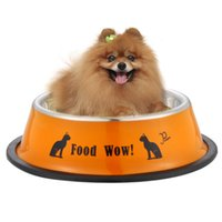 Wholesale Fashion Stainless Steel Anti skid Dog Cat Food Water Bowl Pet Feeding Tool K5BO