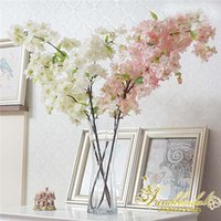 accessories for bouquets - Artificial Simulation Sakura Oriental Cherry Flowers for Home Wedding Bridal Bouquet Christmas Decorations Accessories