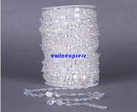 acrylic crystal hanging ornaments - Clear acrylic crystal garland Bead Strands Curtain crystal centerpieces DIY Craft Christmas Tree Hanging Ornament Wedding Party Decoration