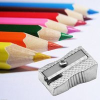 Wholesale Fashion Reliable Zinc Alloy Pencil Sharpeners Single Hole Drawing Writing Sharpener Student School Supplies