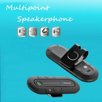 Cheap New Arrival Multipoint Speakerphone Cell Mobile Phone Bluetooth Hands Free v3.0 Bluetooth Car Kit for All Smartphones