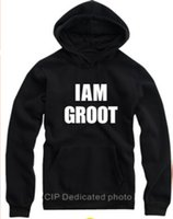 Wholesale Guardians of the Galaxy rocket groot fleece hoodie jacket man woman couple Pullovers Sweatshirts Hoodies