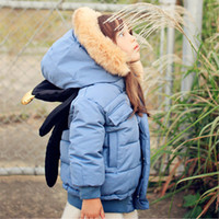 winter padded jacket - Korean children s wear girls cotton padded clothes with thick cotton padded jacket cute teddy bear removable winter coat
