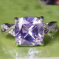 Wholesale 2015 A0045 Round Topaz Lady Engagement Sapphire Princess Tourmaline White Topaz Gemstones Silver Ring Size In Stock