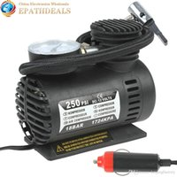 electric tire inflator - Portable V W PSI Electric Car Tire Tyre Inflator Pump Auto Car Pump Air Compressor with Pneumatic Nozzle A2