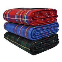 beach camping supplies - Color Plaid Outdoor Picnic Blanket Waterproof Portable Children Crawling Tarps Family Camping Tent Mats Beach Pads Travel Supplies SK424