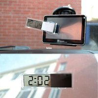 Wholesale New Arrive Durable Digital LCD Display Car Electronic Clock With Sucker Cool