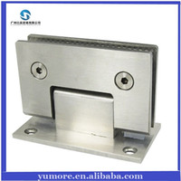 Wholesale DHL Frameless Shower Door Hinges Stainless Steel Glass Clamp Glass Hinge